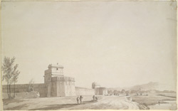 S.E. Bastion of the Asafgarh  (U.P.). 3 April 1789